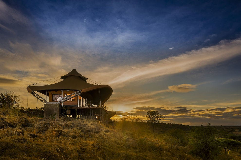 Not a bad view for a honeymoon wake-up at Mahali Mzuri