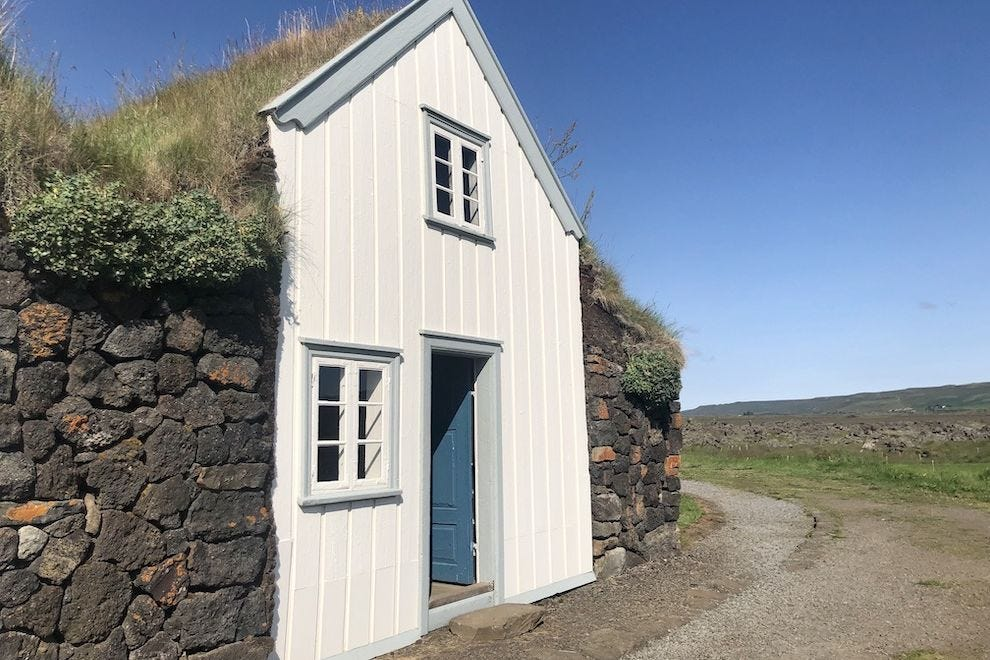 A turf house in Iceland