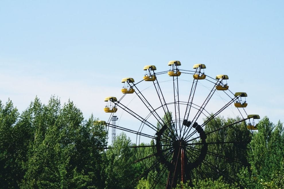 Ferris wheel in Exclusion Zone