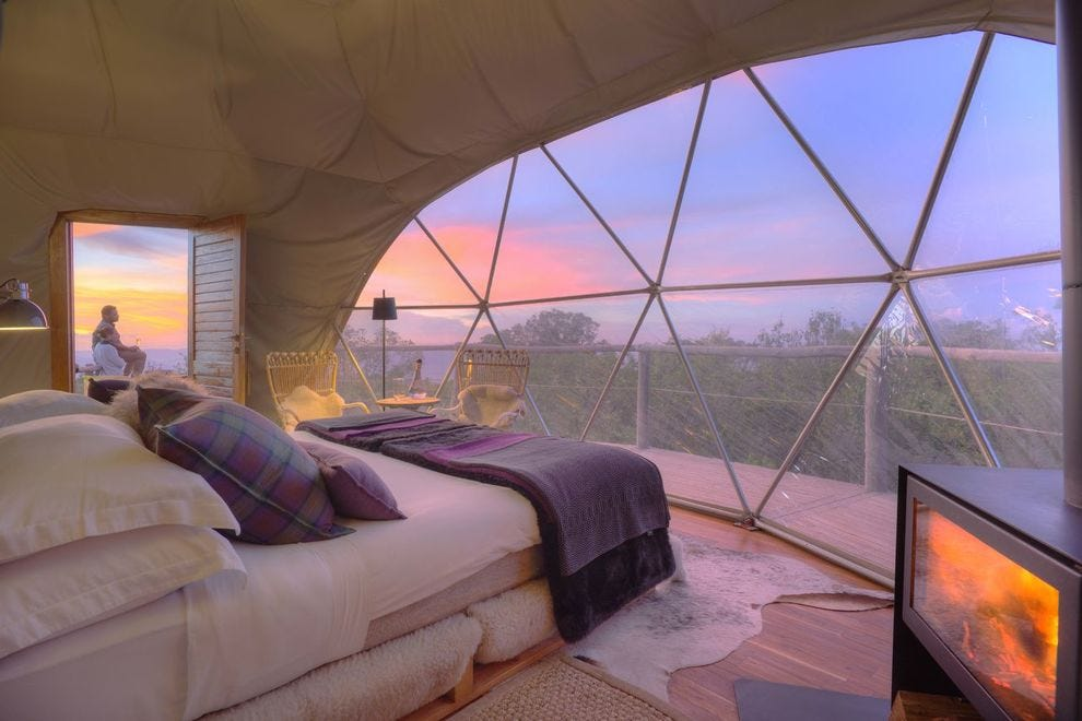 Waking up to 180-degree views of the Ngorongoro Conservation Area