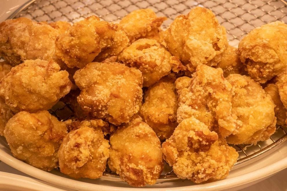 Karaage is closely related to American popcorn chicken