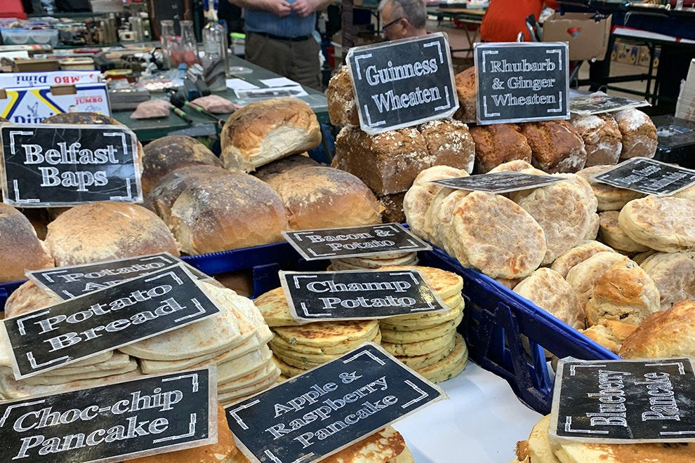 Baked goods at the historic St George's Market