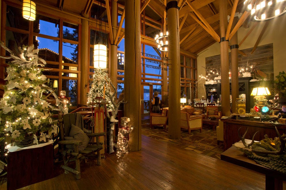 Hood Canal's Alderbrook Resort & Spa provides a cozy Washington retreat in any season, and especially during winter months