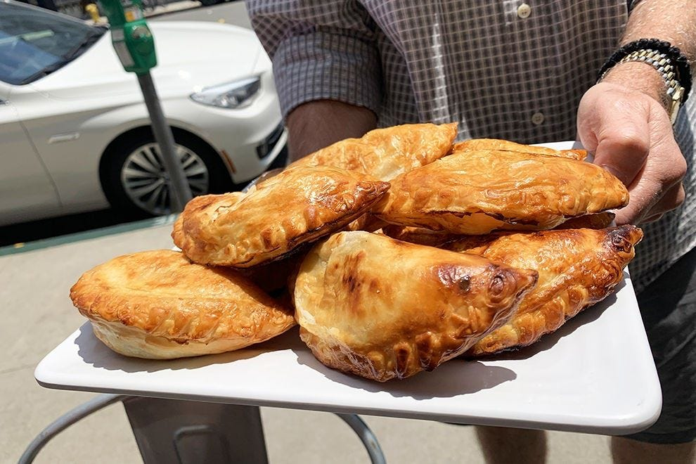 Chicken empanadas at Amara Chocolate and Coffee