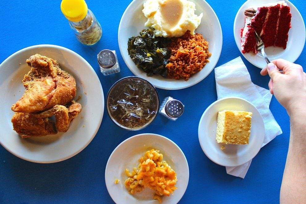 Sisters of the New South serve up Southern classics, but the locals' favorite is the fried chicken