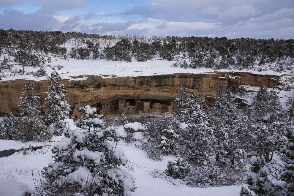 Winter at Spruce Tree House in Mesa Verde National Park