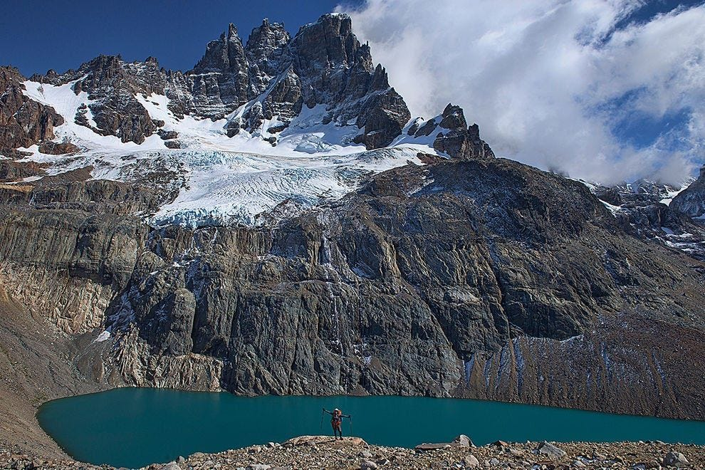 Lake Castillo is nestled in the jagged peaks of the mountains of Cerro Castillo National Reserve