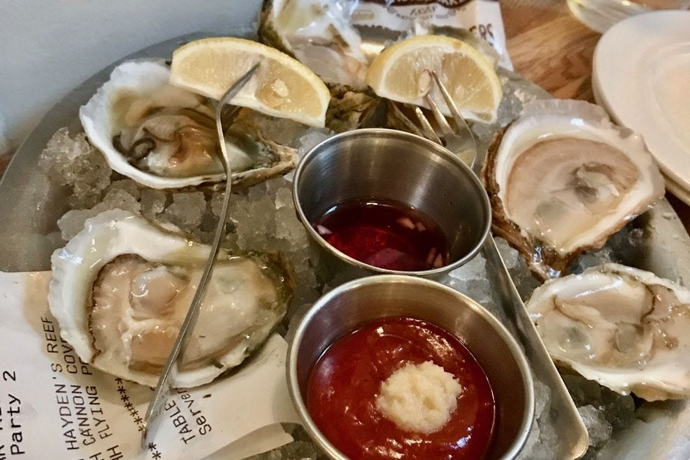 Hank's Oyster Bar draws a local crowd with it's well-curated oyster list.