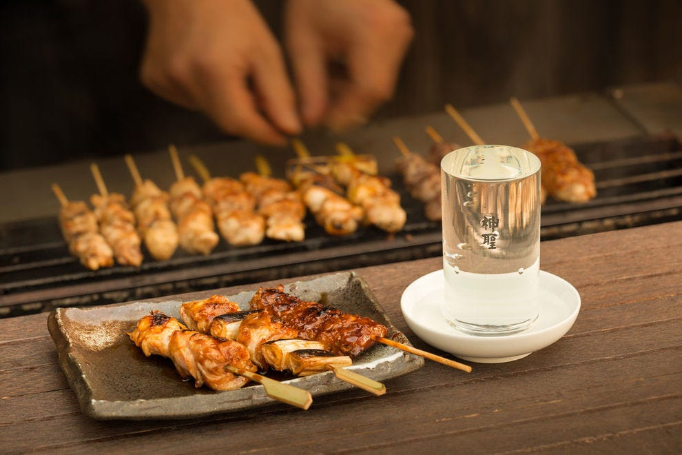 Torisei's chicken skewers are some of the most popular snacks.