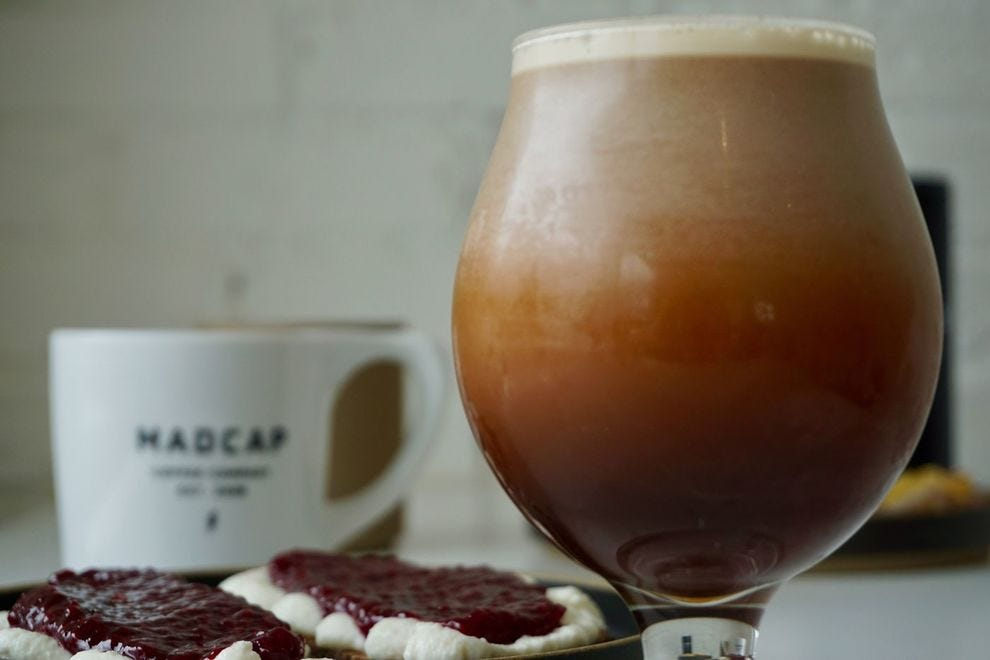 Nitro cold brew from Madcap Coffee