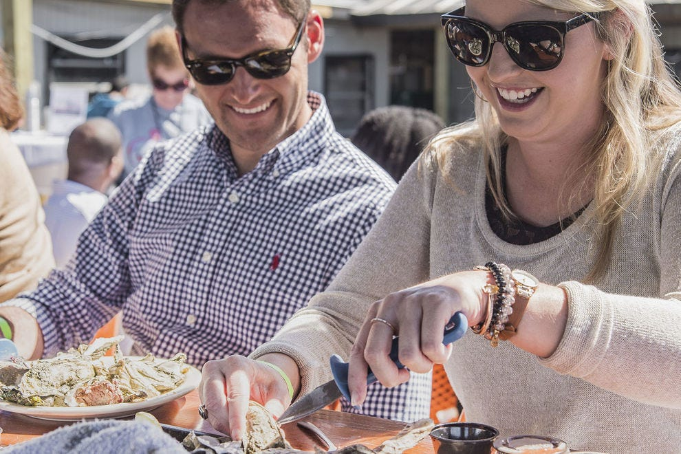 Oyster roasts in many forms are a big draw at the Hilton Head Island Seafood Festival