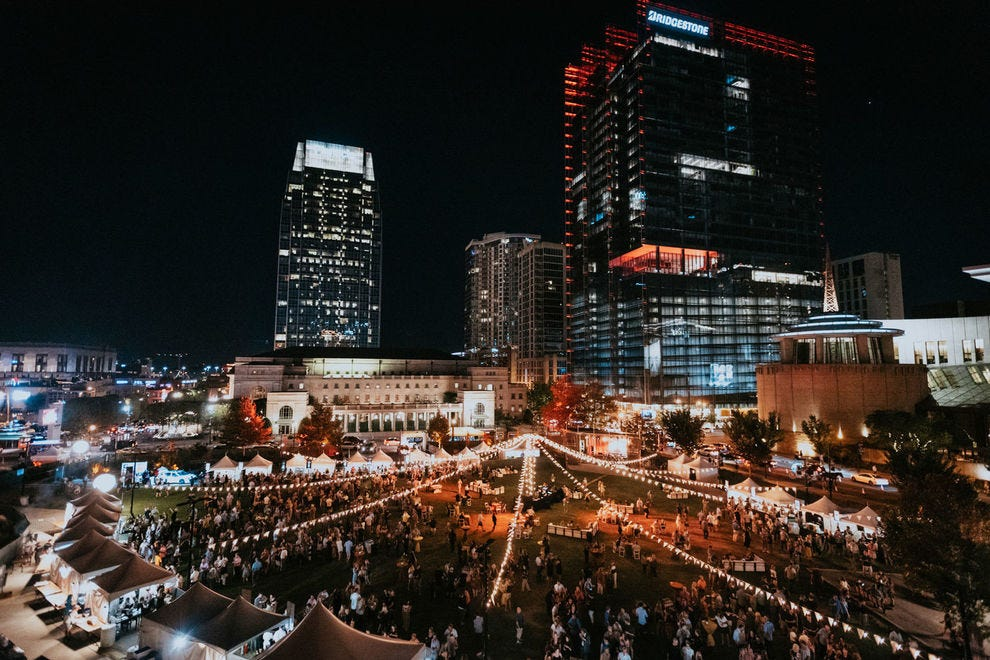 Downtown Nashville is the perfect backdrop for big name entertainers and celebrity chefs at Music City Food + Wine Festival