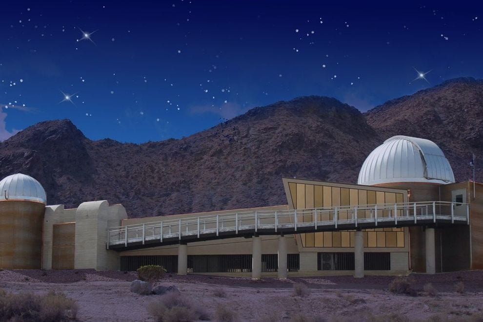 The Rancho Mirage Observatory is unique in that it's a public education center, built specifically for the public