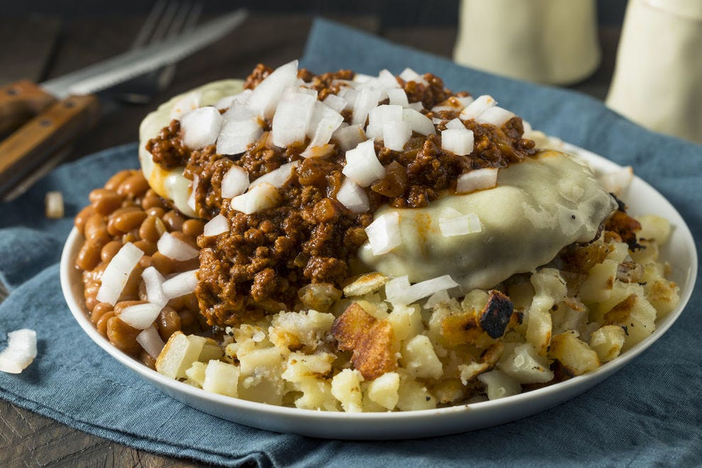 Garbage Plates are piled high with starches and meats, perfect for curing that hangover
