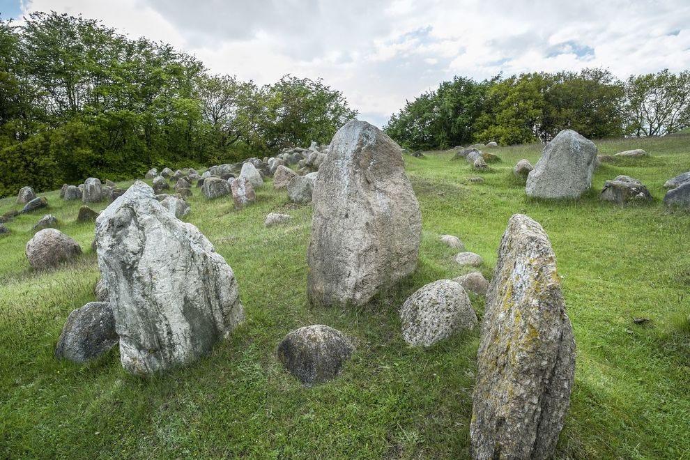 Stone ships in Aalborg, Denmark