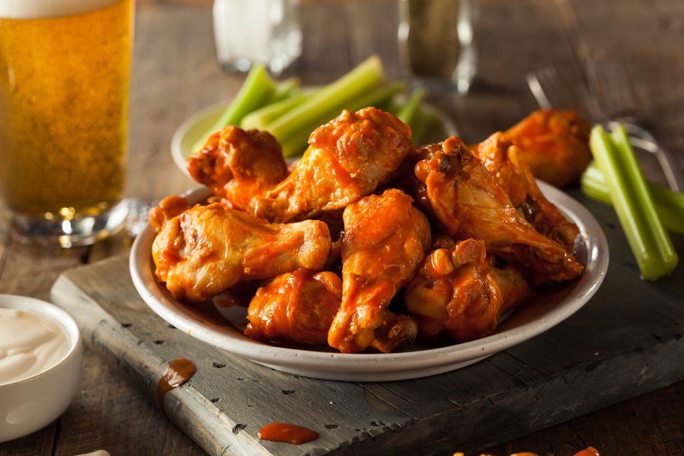 Hot buffalo wings are great with (and after) a few beers