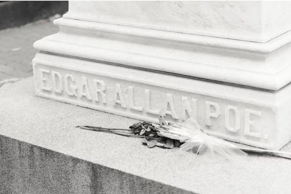 Edgar Allan Poe is buried here