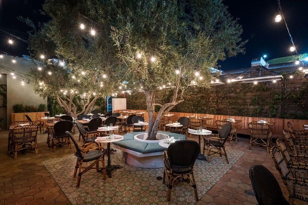 Top-notch patio at Original Cannabis Cafe