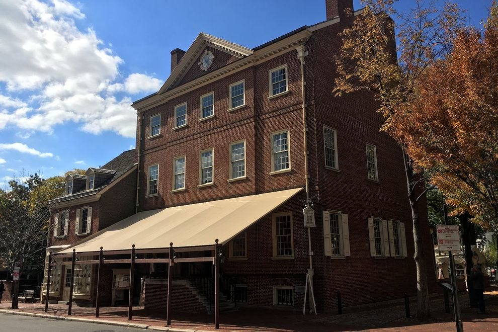 Though the original City Tavern was demolished in 1854, the new building is a historically accurate replica