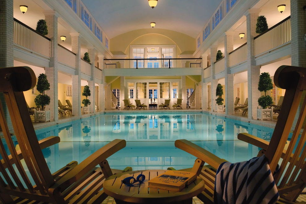 The iconic indoor pool at the Omni Bedford Springs Resort was built in 1905