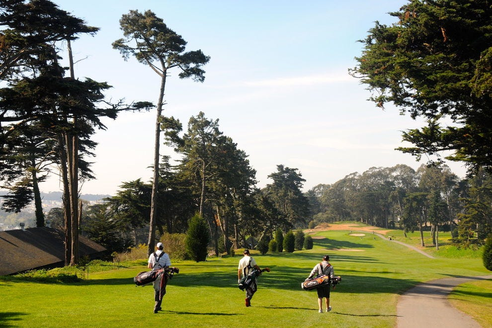 The Presidio Golf Course is scenic and challenging