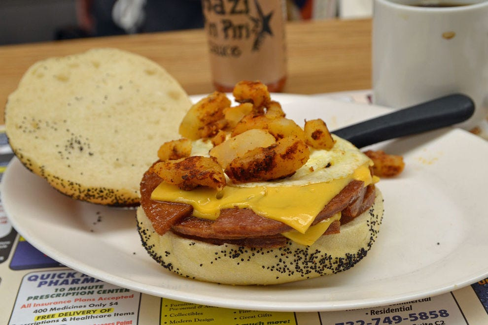 Pork roll breakfast sandwich at Frank's Deli & Restaurant