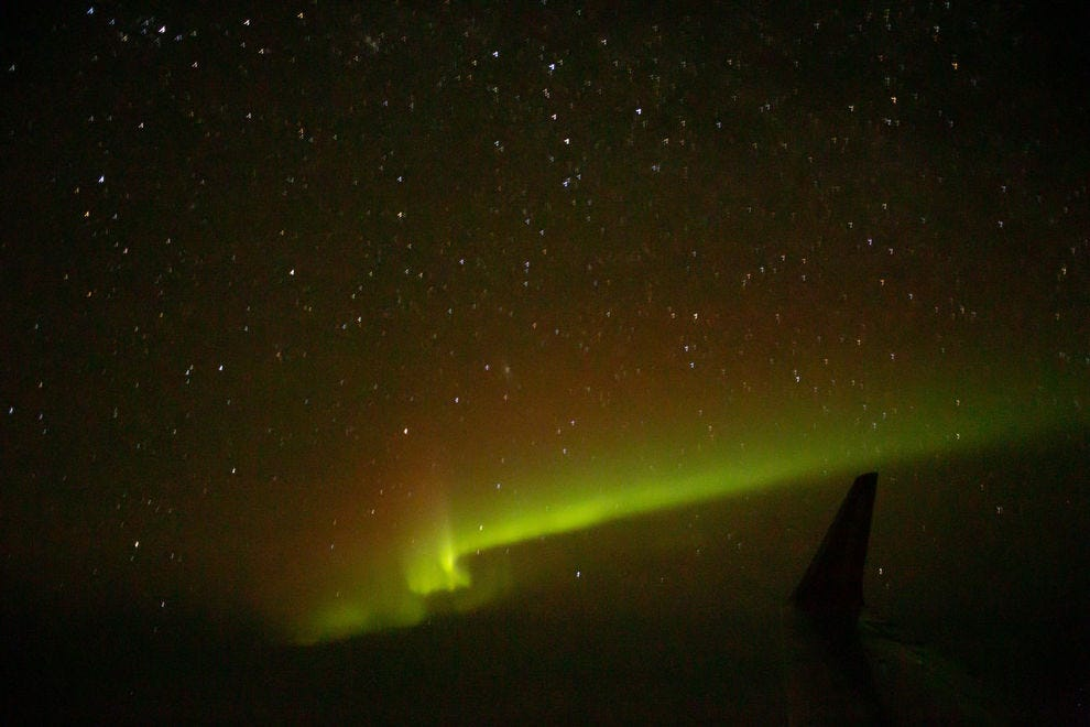 Participants of the spectacular Aurora | 360 Experience enjoyed this view out the window of their chartered Air North plane