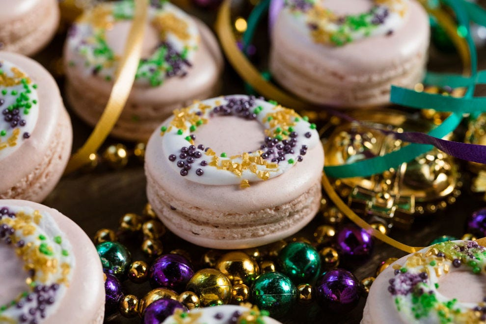 French macarons are an especially elegant version of king cake
