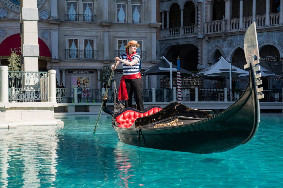 A gondola ride at The Venetian? That's amore