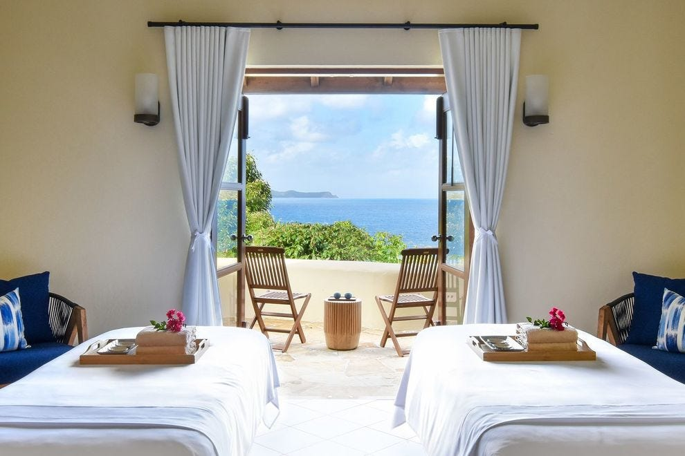 The spa at Rosewood Little Dix Bay on Virgin Gorda in the British Virgin Islands
