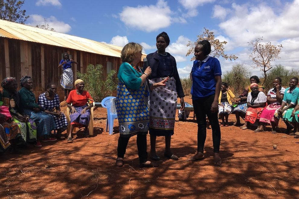 Linda Higdon leading a sacred women's circle in Kenya