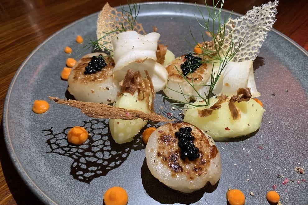 Scallops at L'Appart