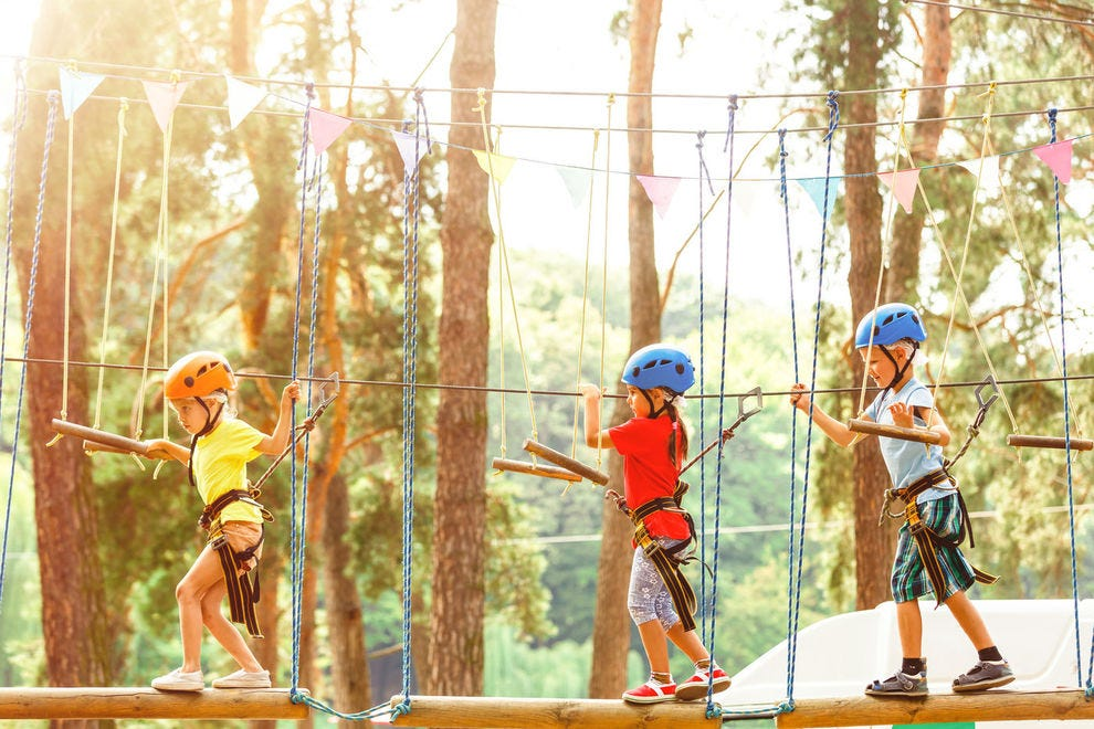 Get a bird's-eye view at these adventure parks