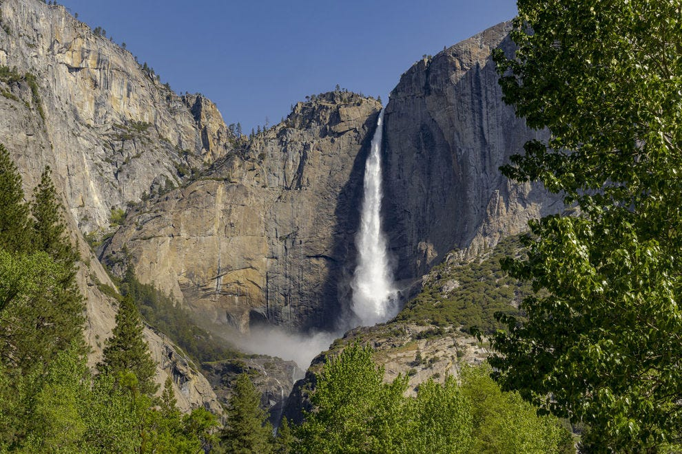 Yosemite Falls is one of the park's most iconic landmarks