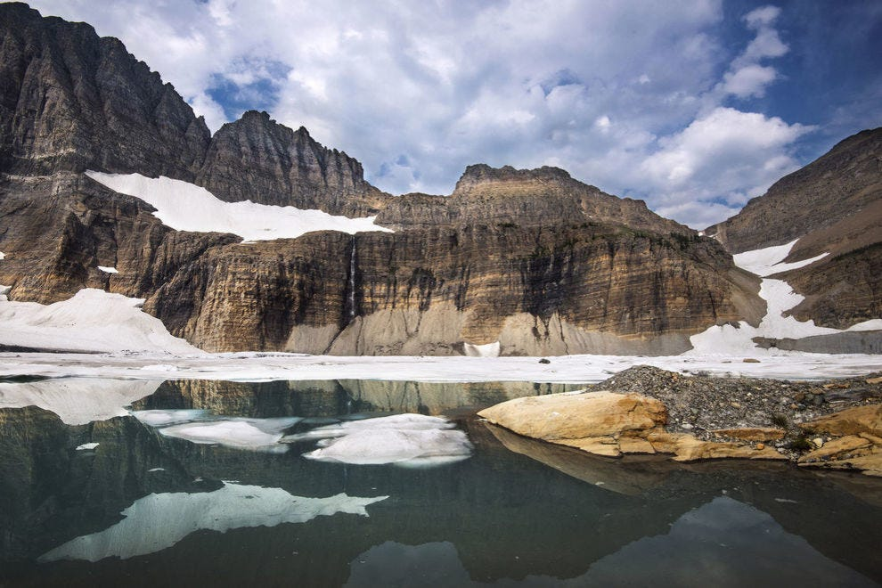 This view of Grinnnell Glacier Basin is one of many spectacular spots in the park