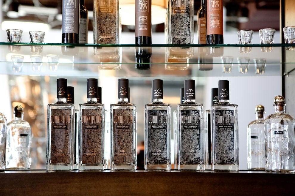 Durham Distillery's American Dry and Navy Strength Gins