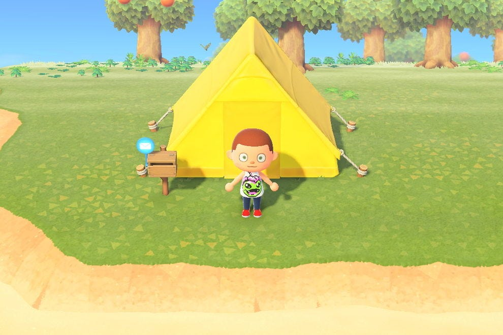 Your humble beginnings: a tent and a mailbox