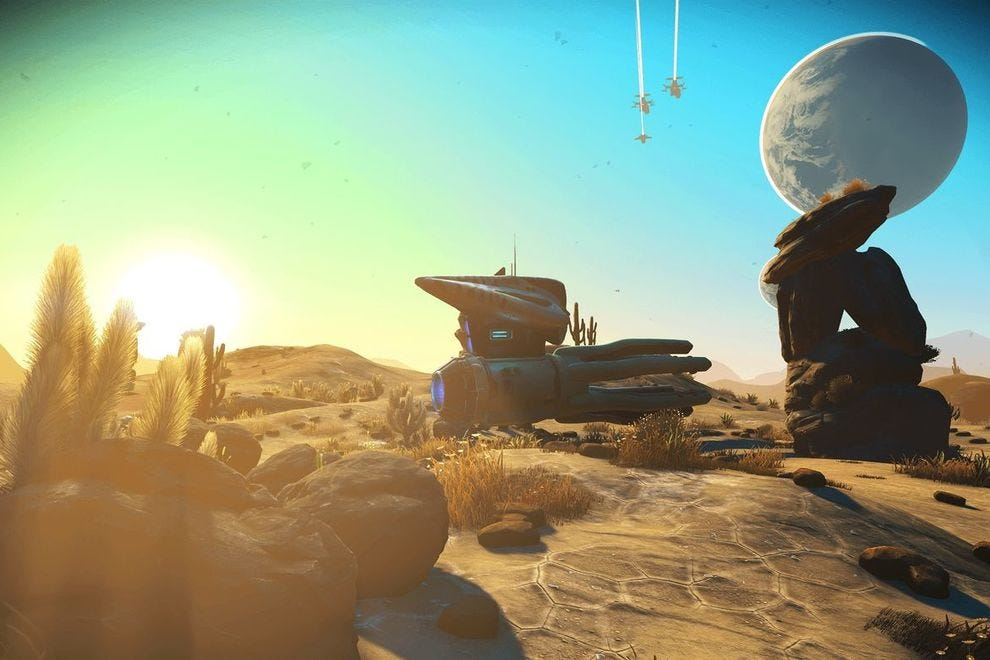 One of the countless worlds waiting to be explored throughout No Man's Sky