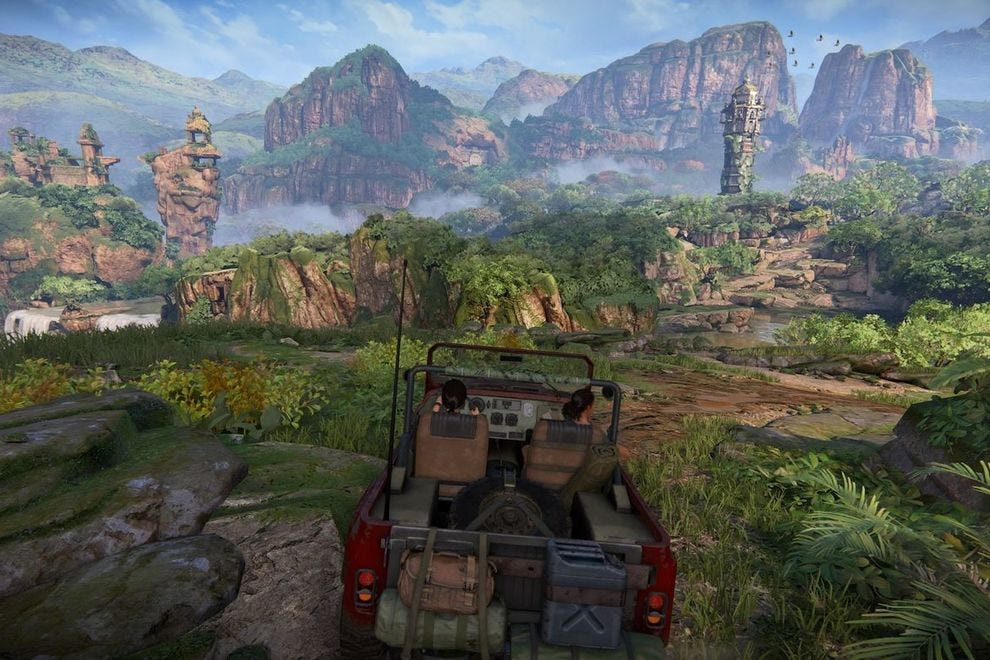 One of the more open levels in Uncharted: The Lost Legacy