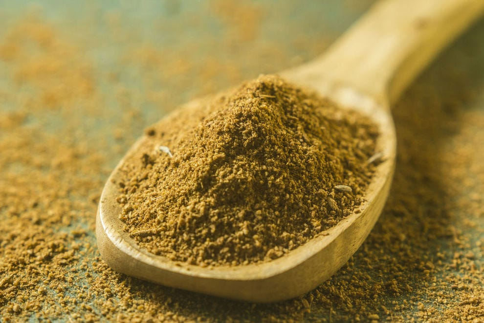 Cumin seed ground into a delicate powder