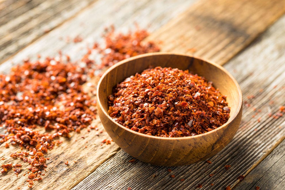 "A little goes a long way with Aleppo pepper â€"" it has a spice that builds slowly!"