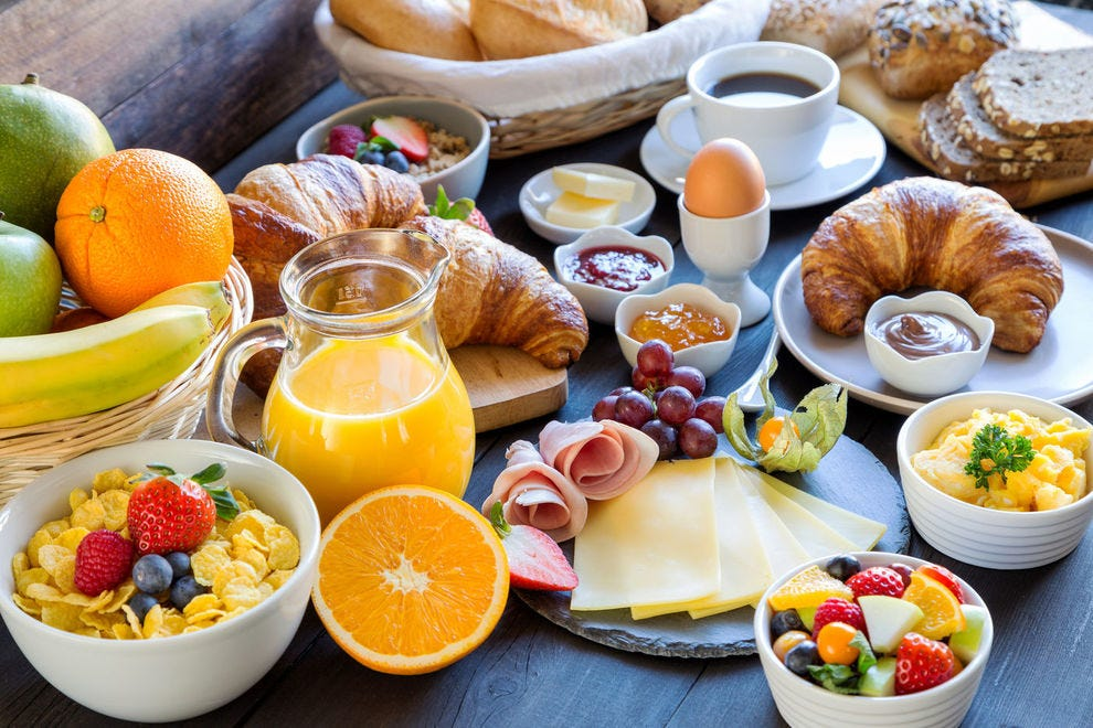 When set on the table, a German breakfast is truly a bounty