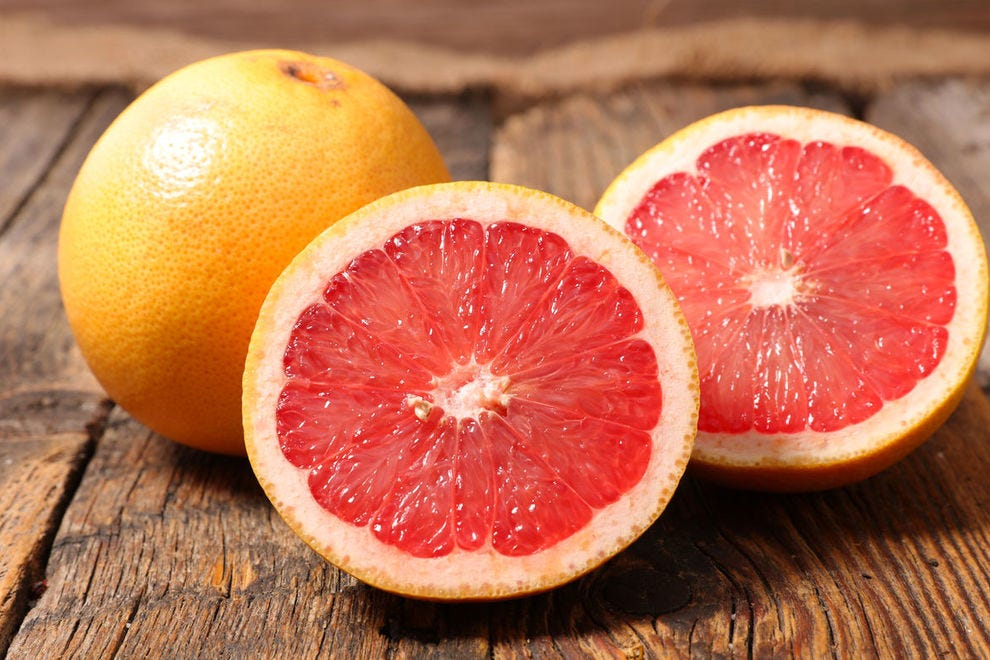 Grapefruit should not be the breakfast of choice for people with heart problems or irregularities