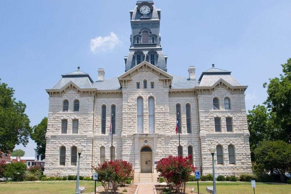 This Texas small town is known for its historic town square