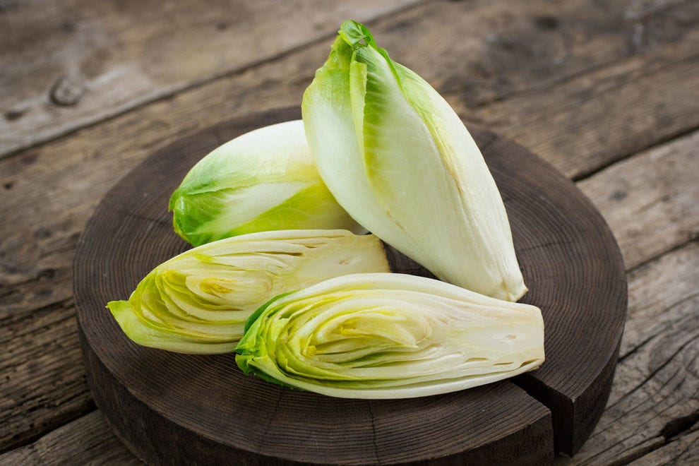 A Belgian endive, or, as it's also known, witloof and chicory