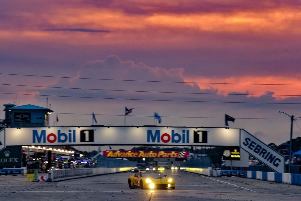 Drivers race for 12 hours during this winning endurance event