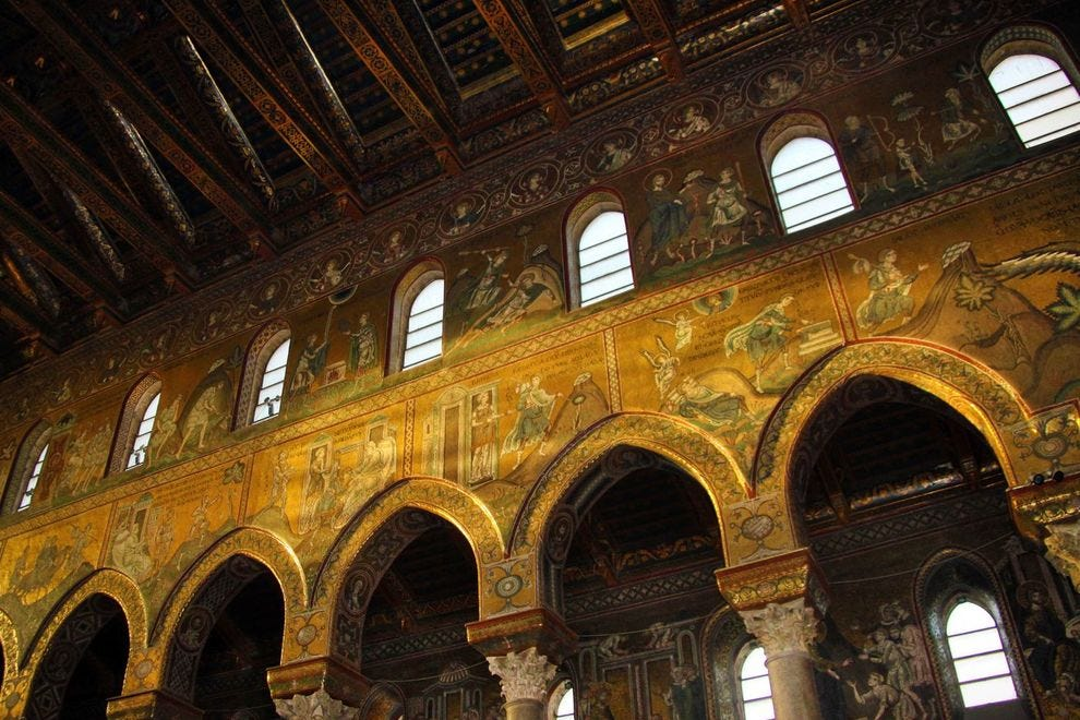 Golden mosaics at Palermo cathedral