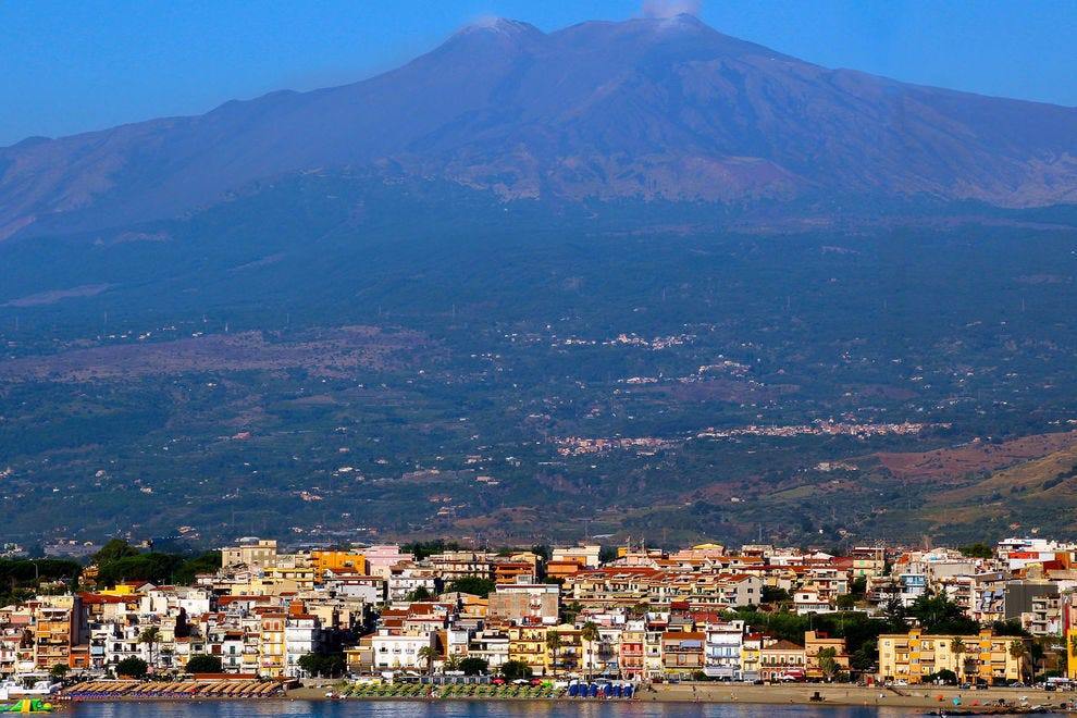 Mount Etna in the distance