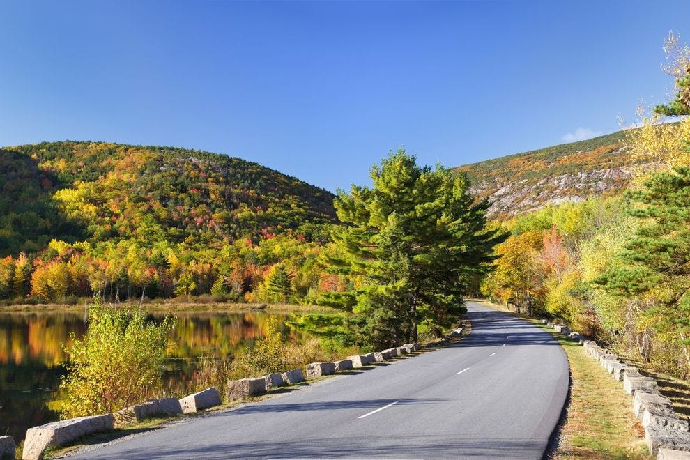 Park Loop Road at Acadia National Park