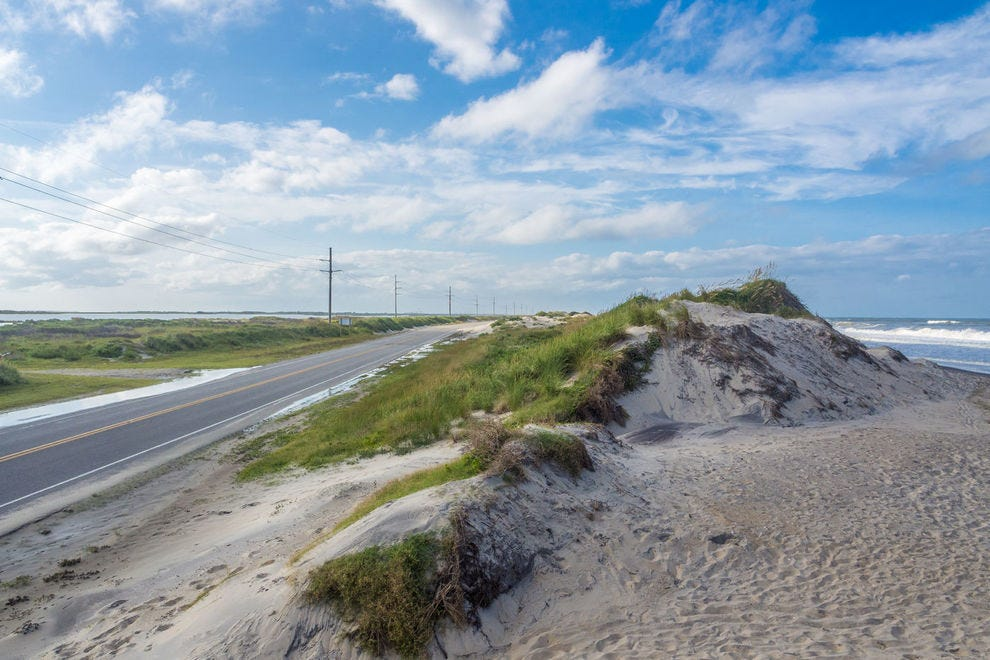 Road in the Outer Banks